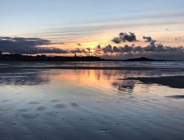 Saint-Malo : l'hiver à marée basse