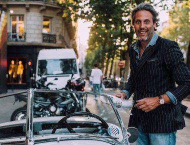 Ça cause chiffons au bar : François Pourcher, poivre et sel et pantalon blanc
