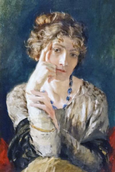 Portrait de Madame Henriette Fortuny par Mariano Fortuny y Madrazo, 1915 Tempera sur carton les hardis
