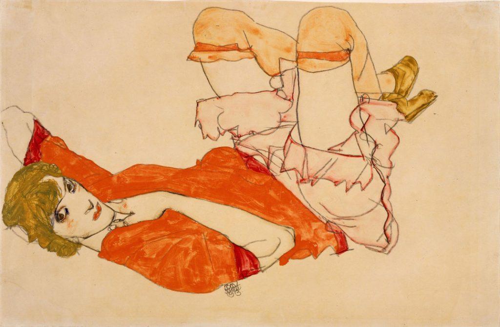 1913-egon-schiele-wally-in-a-red-blouse-lyng-on-her-back-1913Egon_Schiele_-_Portrait_of_Wally_Neuzil_-_Google_Art_Projectegon-schiele-nu-feminin-les-hardis-7