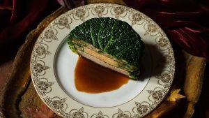 Chartreuse de poule faisane au foie gras les hardis cuisine française