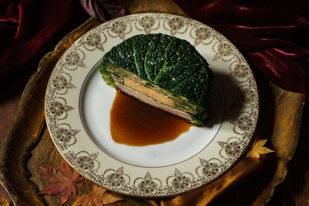 Chartreuse de poule faisane au foie gras les hardis cuisine francaise