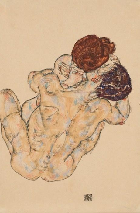 Egon_Schiele_-_Mann_und_Frau_Umarmung_1917 egon-schiele-nu-feminin-les-hardis-8.